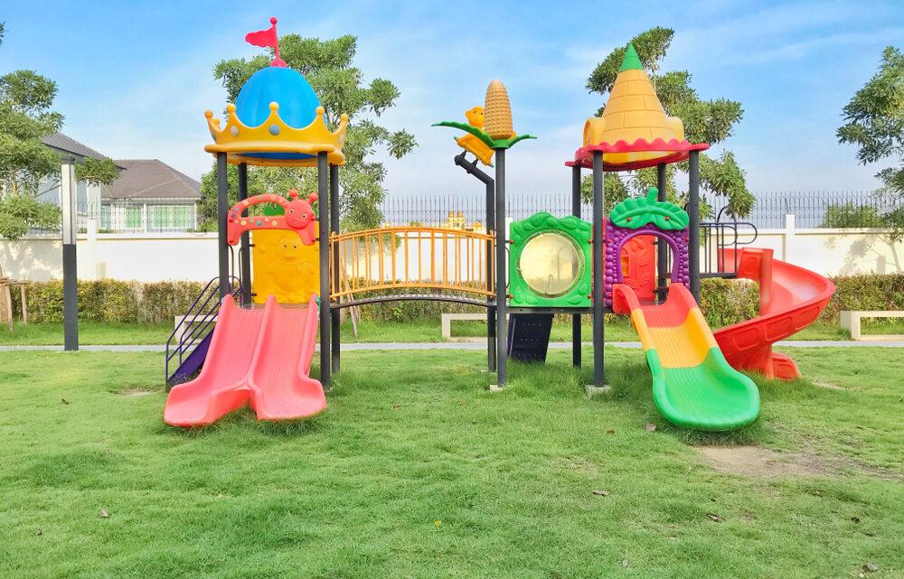 L'aménagement d'une aire de jeux extérieurs pour enfants